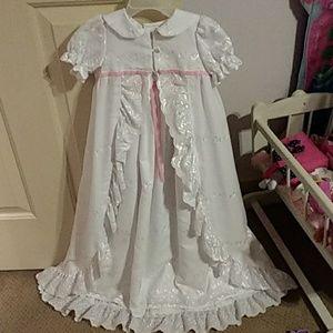 Beautiful handmade baptism girl dress 0-3 months